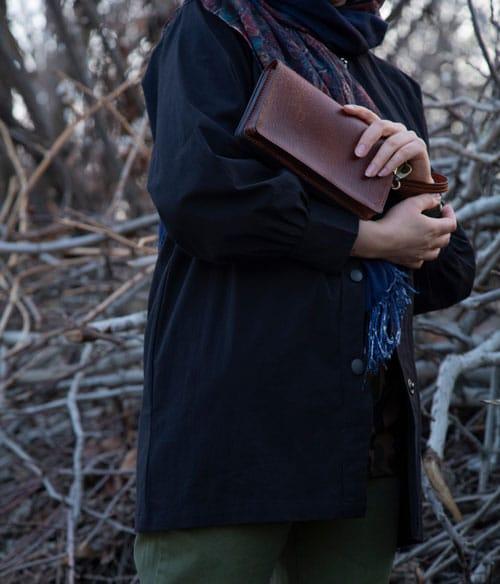 کیف دستی چرم اورانیوم پلاس