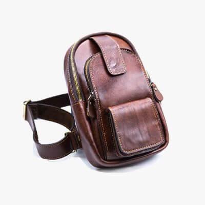 کیف دوشی چرم بایسیکل