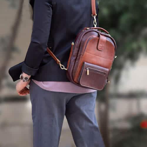 کیف دوشی چرم بریو